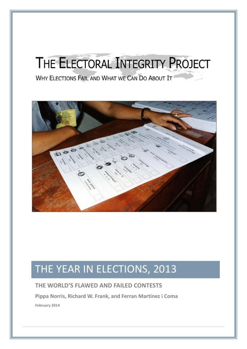 The Year in Elections 2013 24 Feb 2014