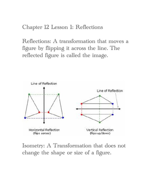 Geometry Chapter 12 Lessons 1-6