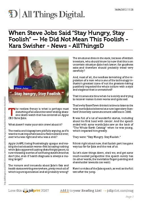 Steve Jobs - 2005 Stanford Commencement Speech