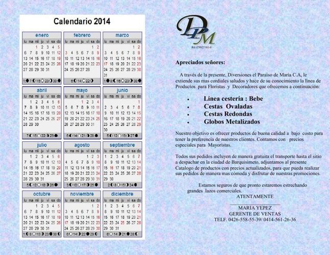 catalogo de cestas y globos metalizados enero 2014