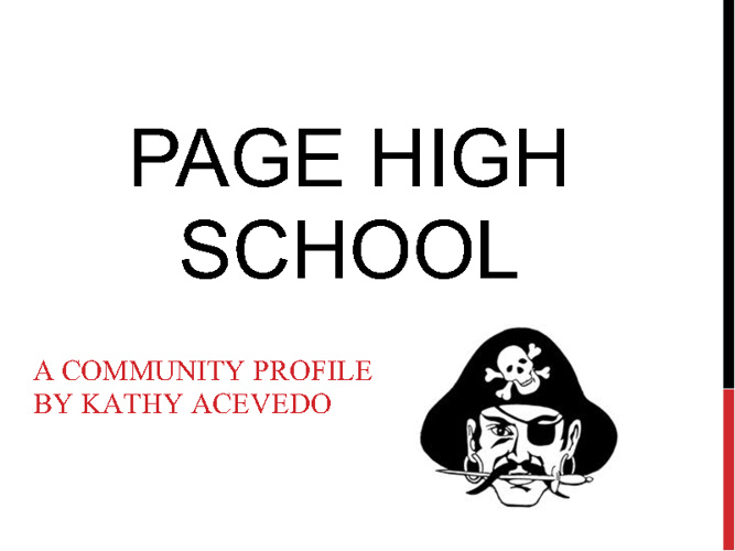 Page High School - Community Resource Profile