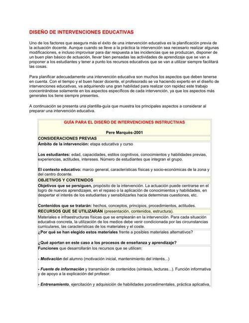 INTERVENCIONES EDUCATIVAS