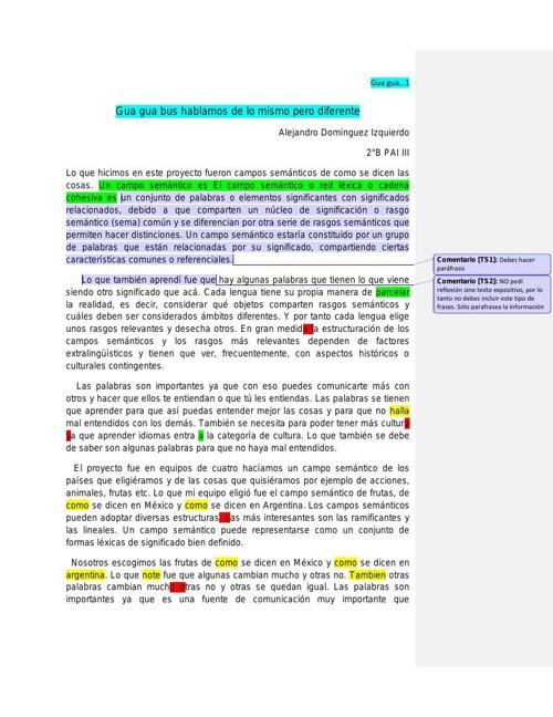 Alejandro Domiìnguez 2ºB Gua gua bus hablamos de lo mismo pero d
