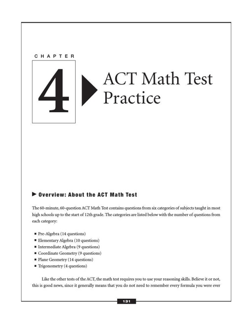 ACTExamSuccess-Math-practice tips and strategies