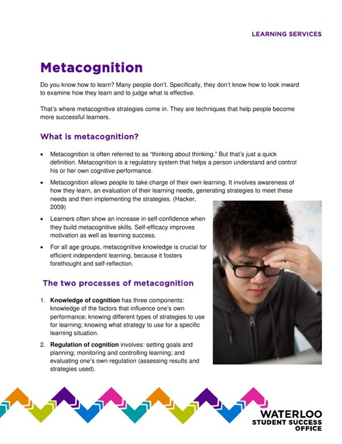 Metacognitve Strategies