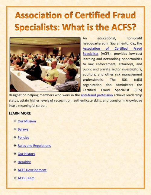 Association of Certified Fraud Specialists