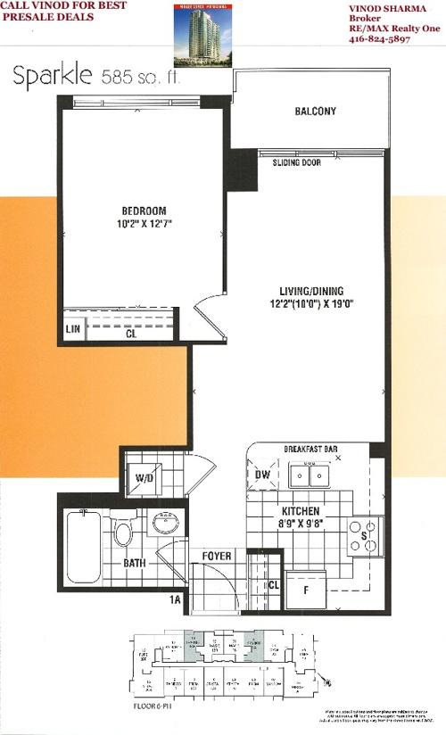 Mirage Condos Mississauga Floor Plans
