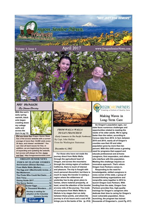 Oregon Senior News April 2017 E-edition