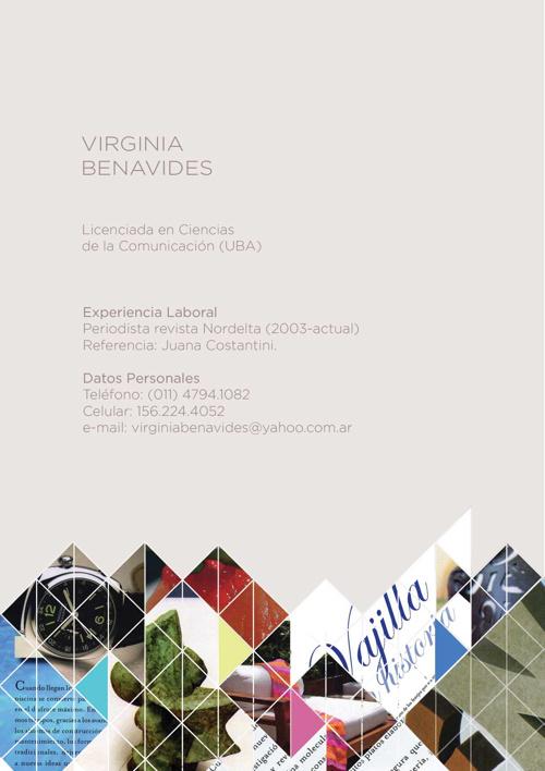 Portfolio Virginia Benavides 2012