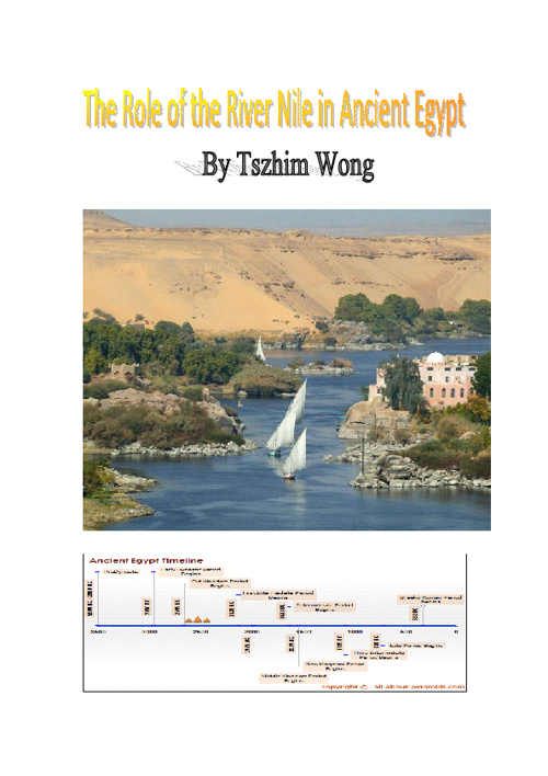 The Role of the River Nile in Ancient Egypt
