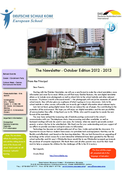 DESK Newsletter October 2012