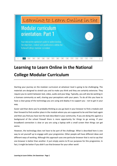 Learning to Learn Online (Second Edition 14/12/12)