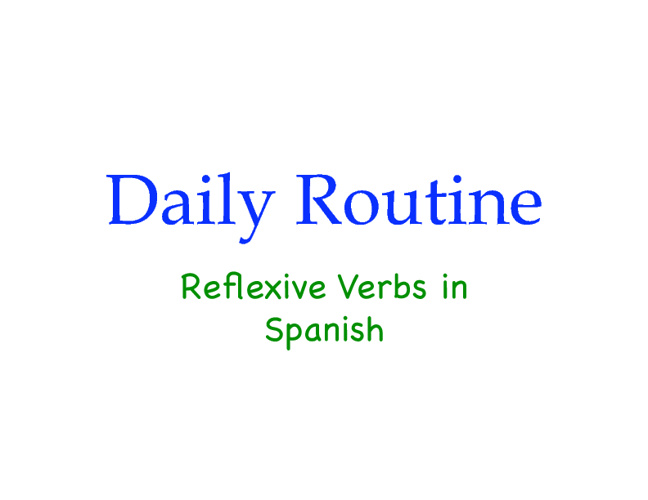 Reflexive verbs in images