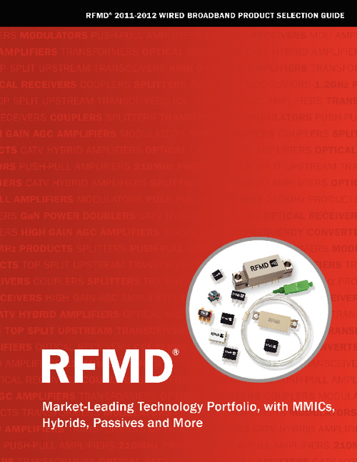 2011 Wired Broadband Product Selection Guide