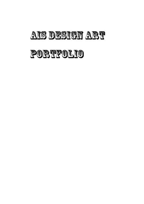 Ais Design 8 Art Portfolio