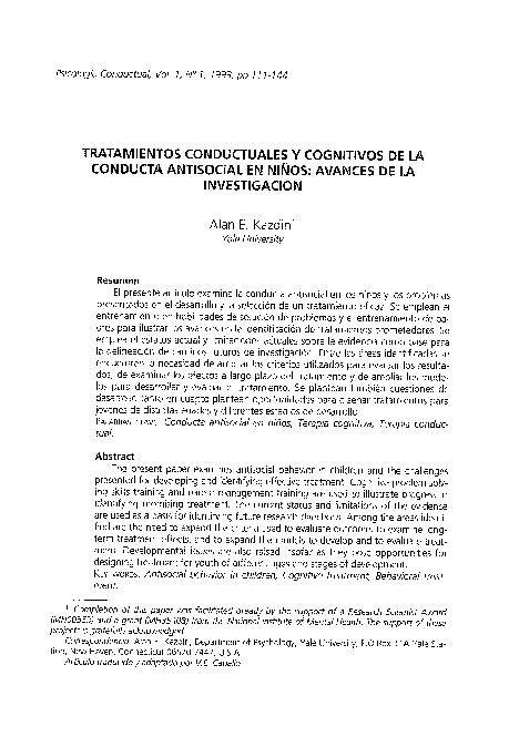 TRATAMIENTOS CONDUCTUALES  EN CONDUCTAS ASOCIALES