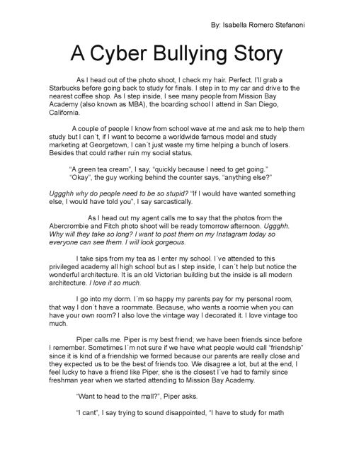 A cyberbullying story