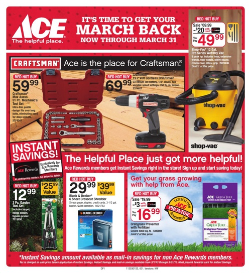 It's time to get your March Back now through March 31st!