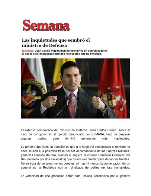 El extenso comunicado del ministro de Defensa