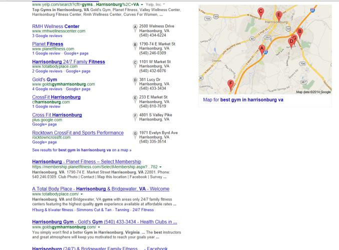 Harrisonburg Google Page 1