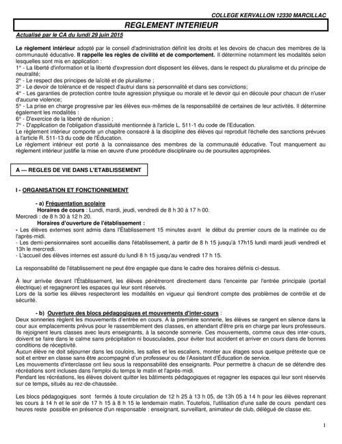 Reglement interieur 2016-2017 au 06-07-2016