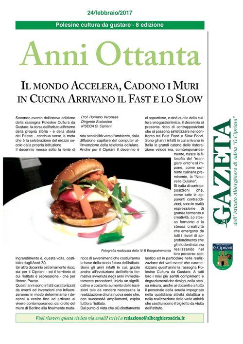 "GAZETA IPSEOA ""G.Cipriani"" Adria del 24 febbraio 2017"