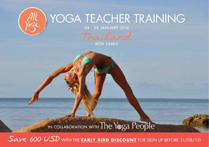 Yoga Teacher Training Koh Samui Thailand January 2016