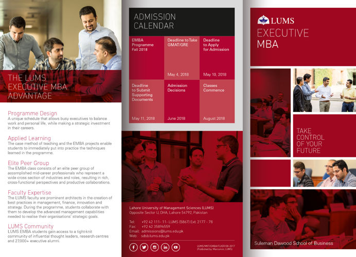 Executive MBA Flyer