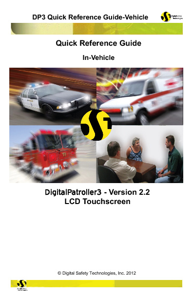 DP3 2.2 In-Vehicle with LCD Monitor Quick Reference