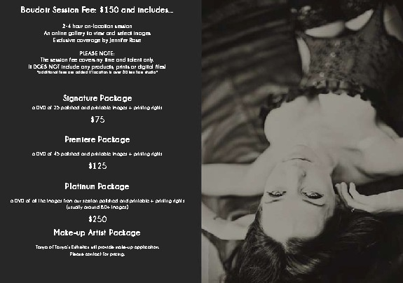mINK Creative photographic studios ~ Portrait Pricing 2012