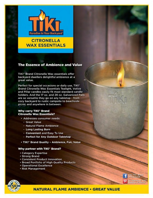2015 - TIKI® Wax Essentials & Accessories