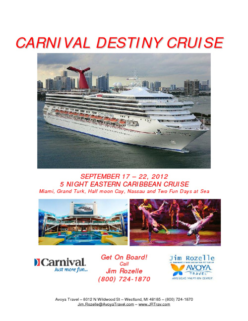 Carnival Destiny Cruise