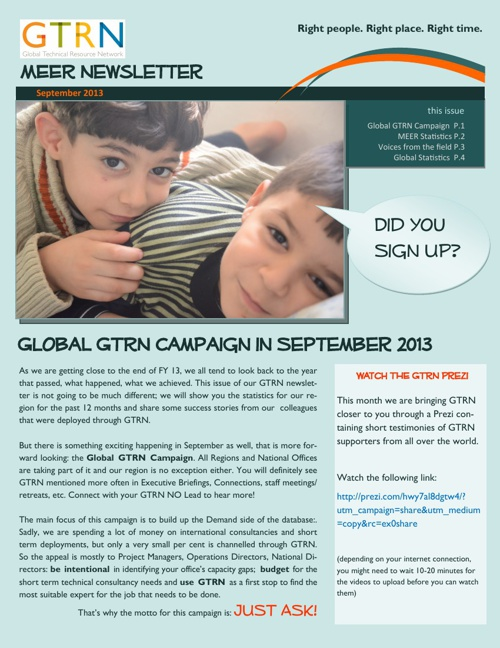 MEER GTRN Newsletter Sept 13