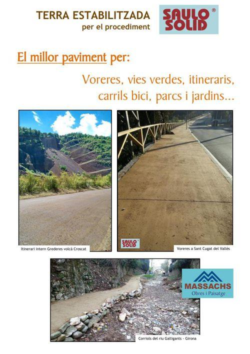 Terra Estabilitzada SAULO SOLID - Paviment per voreres, vies ver