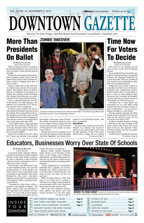 Downtown Gazette  |  November 2, 2012
