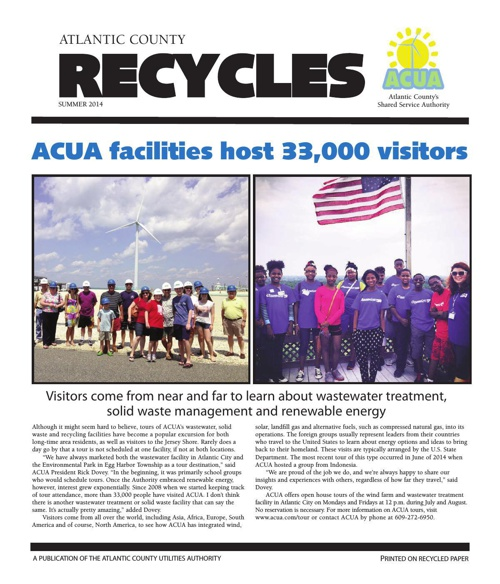 Atlantic County Recycles Newsletter Summer 2014