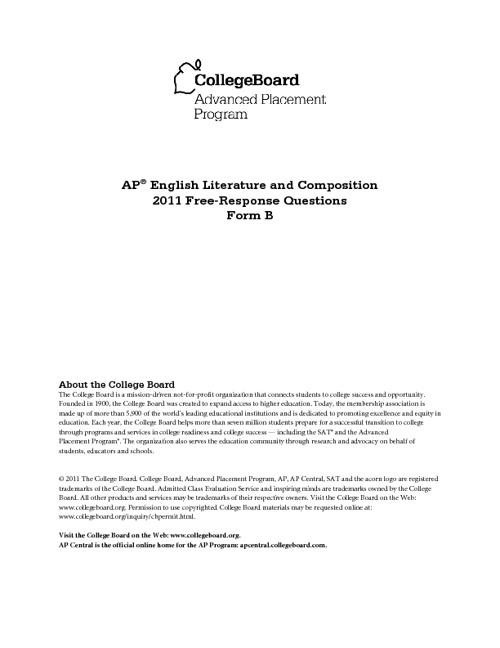 2010 ap english free response question
