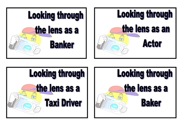 Lenses (Perspectives) of different people in the community