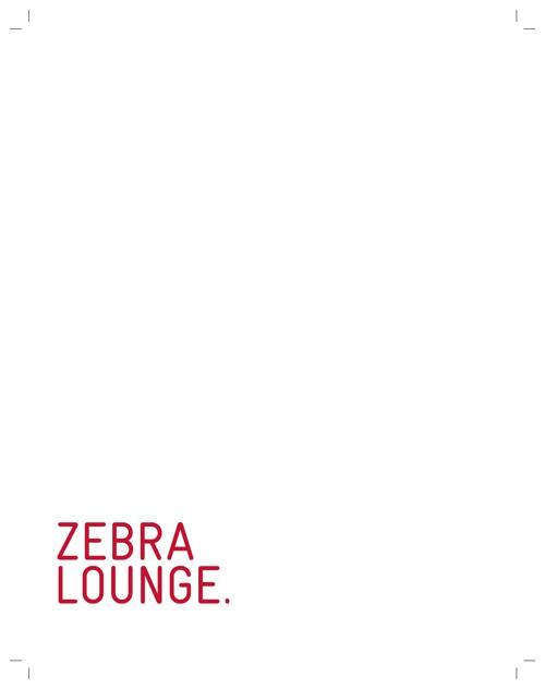 Zebra II Drink Menu