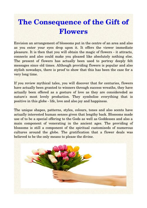 The Consequence of the Gift of Flowers