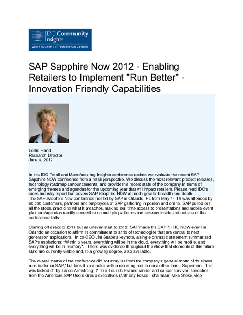 June 2012 SAP Retail Media Coverage