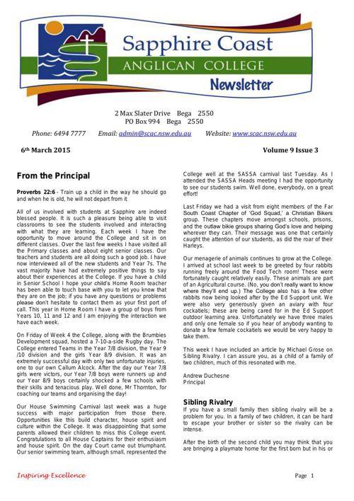 Newsletter Volume 9 Issue 3 2015