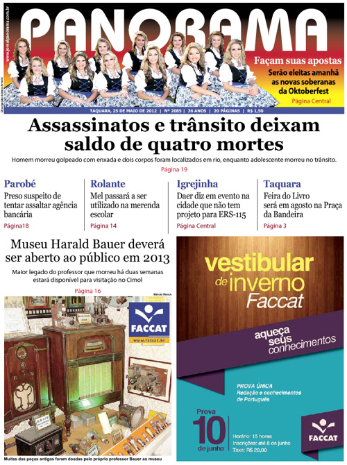 Panorama 25/05/2012 - Taquara/RS