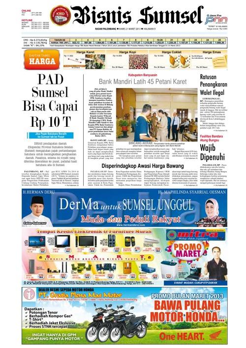 Radar Palembang Edisi Kamis 12-03-2013 Koran 2