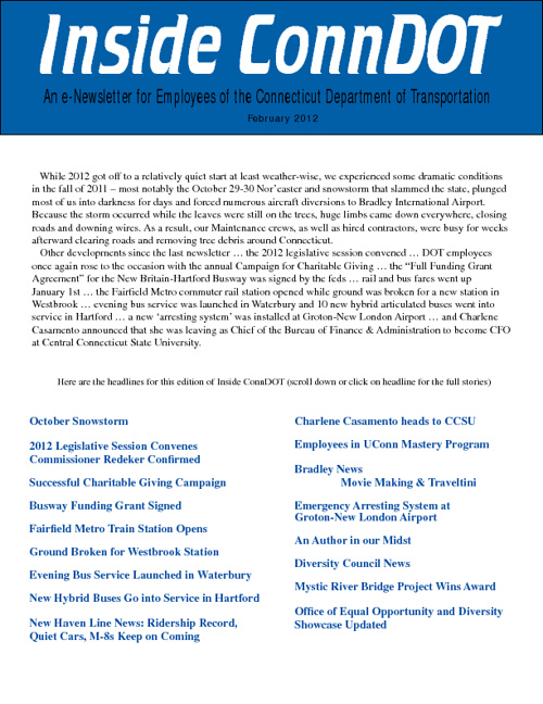 ConnDOT Newsletter February 2012