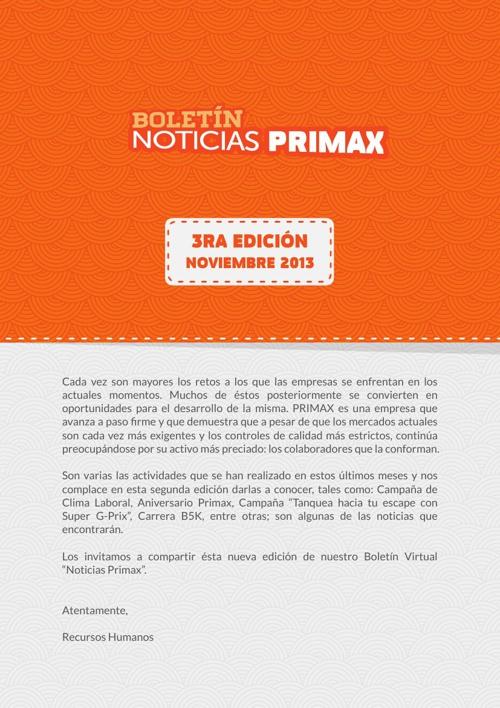 Boletín - Noticias PRIMAX