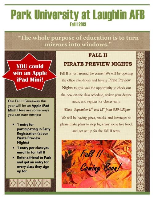 Fall 1 Newsletter