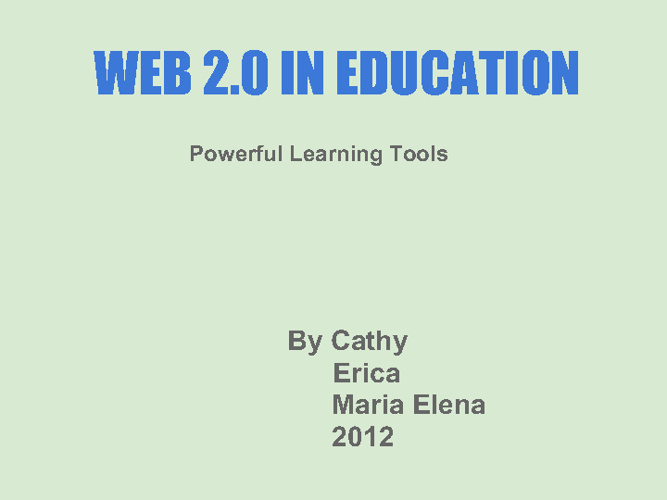 Learning with web 2.0 Tools E-Book Jan 2012