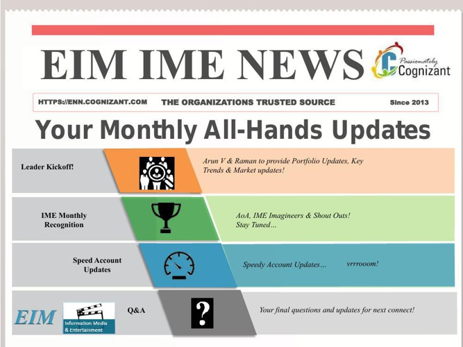 EIM IME All Hands Call Meeting Notes Jan 2015