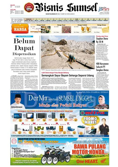 Radar Palembang Edisi 13-03-2013 Koran 2
